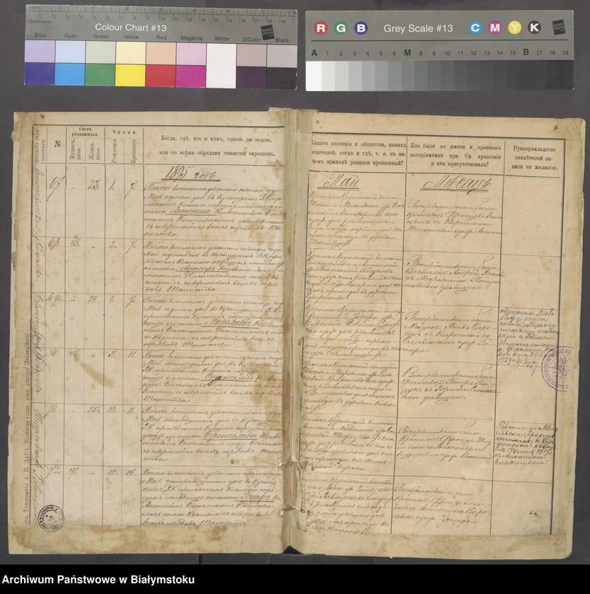 """Obraz z jednostki """"[Akta urodzeń od nr 67/1895 do nr 114/1901]"""""""