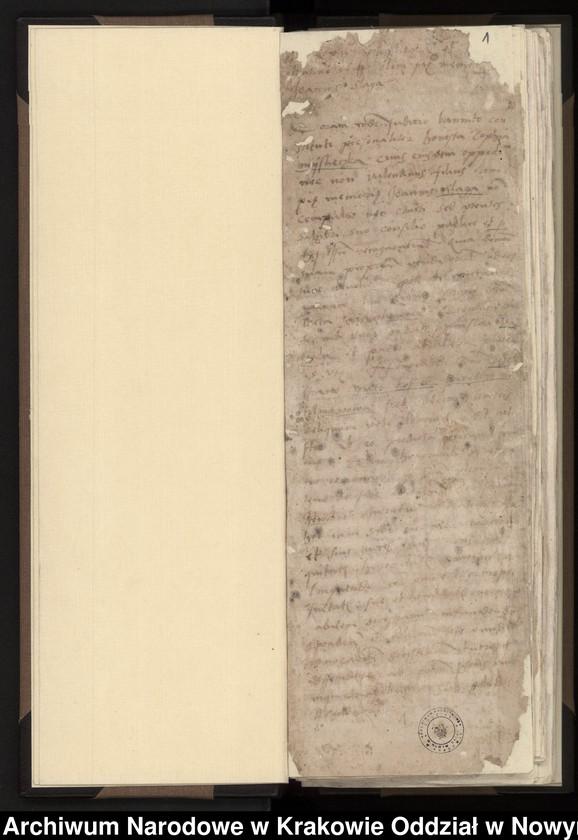 """Obraz 9 z kolekcji """"Fragment księgi wójtowsko - ławniczej miasta Starego Sącza z lat 1480-1563"""""""