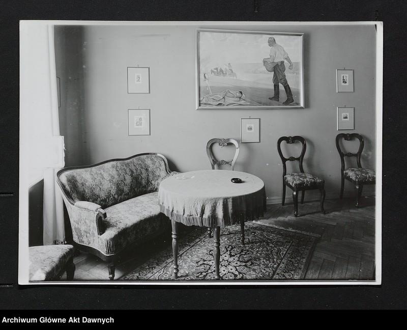 """Obraz 8 z jednostki """"Zbiór fotografii.  Zbiór fotografii przedstawiających Józefa Piłsudskiego, osobistości legionowe, pałac belwederski oraz fotokopie pism J.Piłsudskiego"""""""