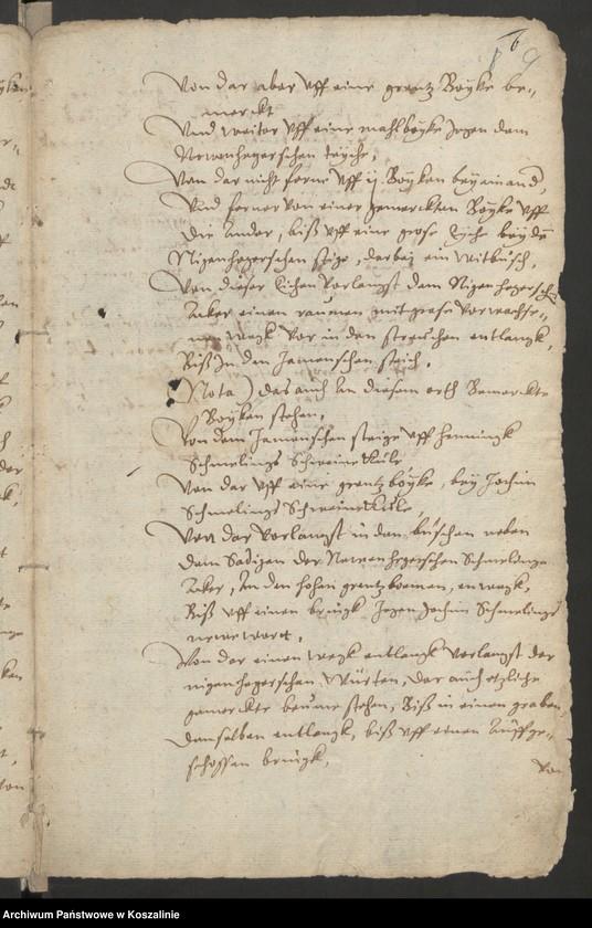 """Obraz 9 z kolekcji """"Granice miasta Koszalina. Tom I: 1558-1689 [odpis dokumentu z 1337 roku]"""""""
