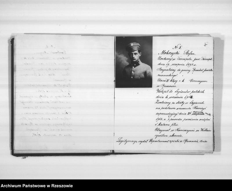 """Obraz 9 z jednostki """"Delegatura Departamentu Wojskowego N.K.W. Rzeszów (album superarbitrowanych Legionistów)."""""""