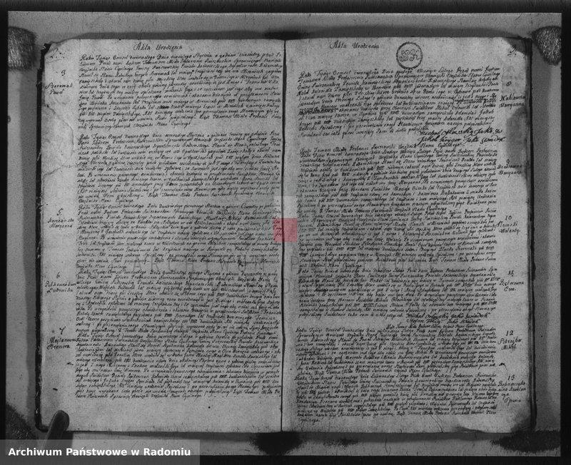 """Obraz z jednostki """"Księga Urzędnika Stanu Cywilnego parafij i gminy Świerże Górne z roku 1812"""""""