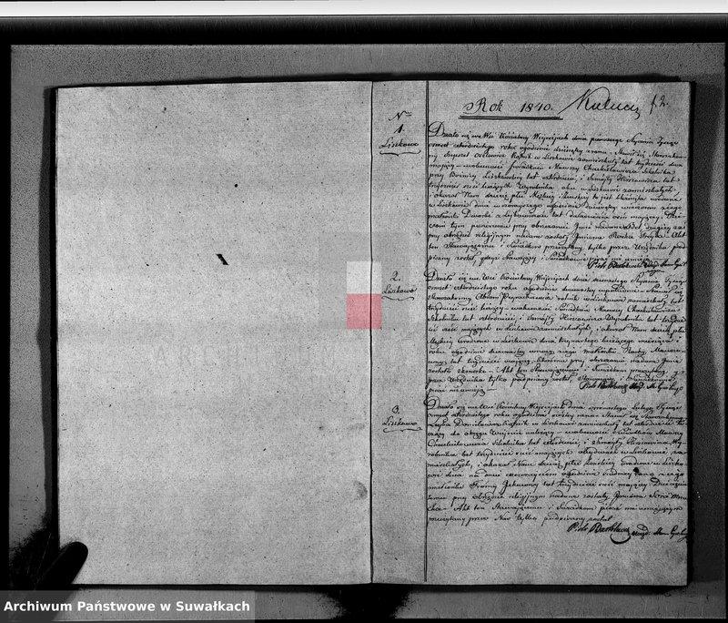 """image.from.unit """"Księga Duplikat Aktow Urodzonych, Zaślubionych i Zeszłych wyznania Mojżeszowego Okręgu Wiejsieie na rok 1840 sporządzona"""""""