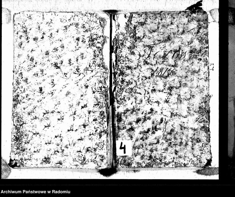 """Obraz 2 z jednostki """"Tczów 1814 [Duplikat akt urodzonych, zaślubionych i zmarłych]"""""""