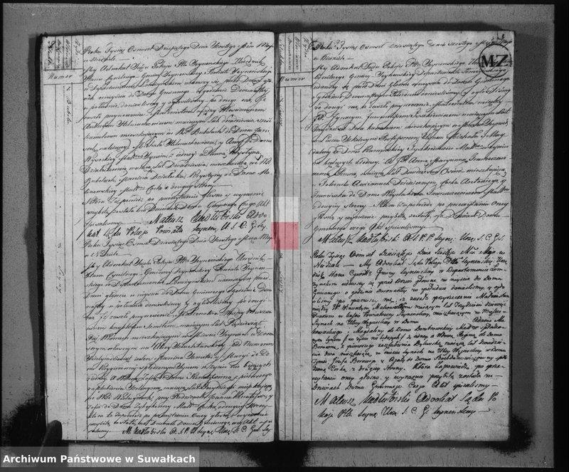 """Obraz z jednostki """"Akta stanu cywilnego zaślubionych w gminie seyneńskiey od 1-go maja 1810 roku"""""""