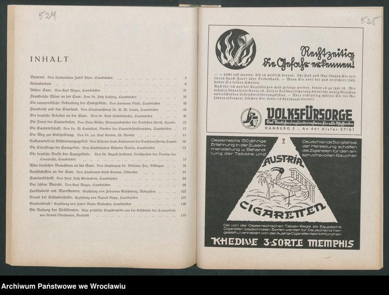 """Obraz 6 z kolekcji """"Reklamy znanych marek w roczniku """"Unsere Saar"""" z 1935 roku"""""""