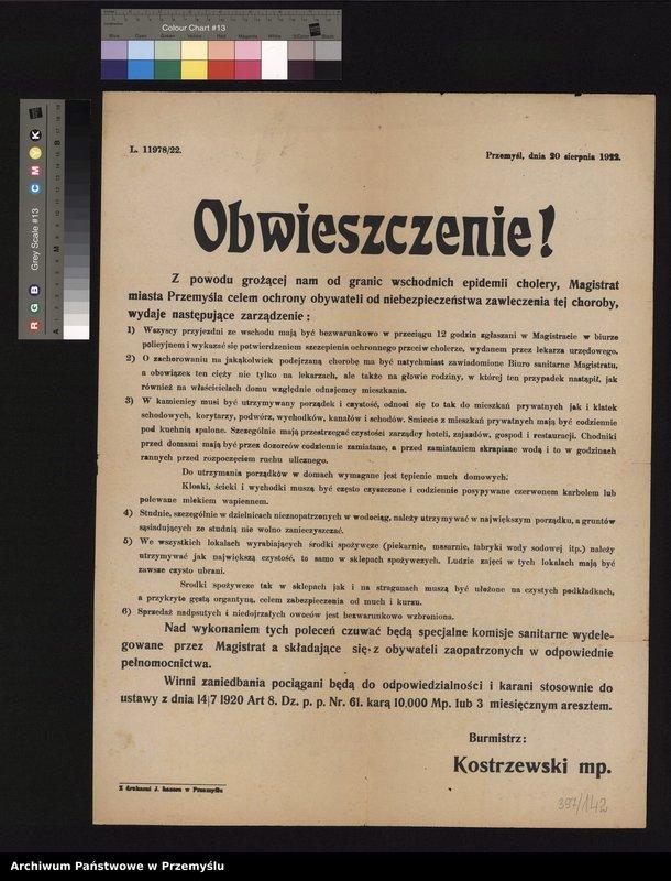 """Obraz 6 z kolekcji """"Epidemie w Przemyślu"""""""