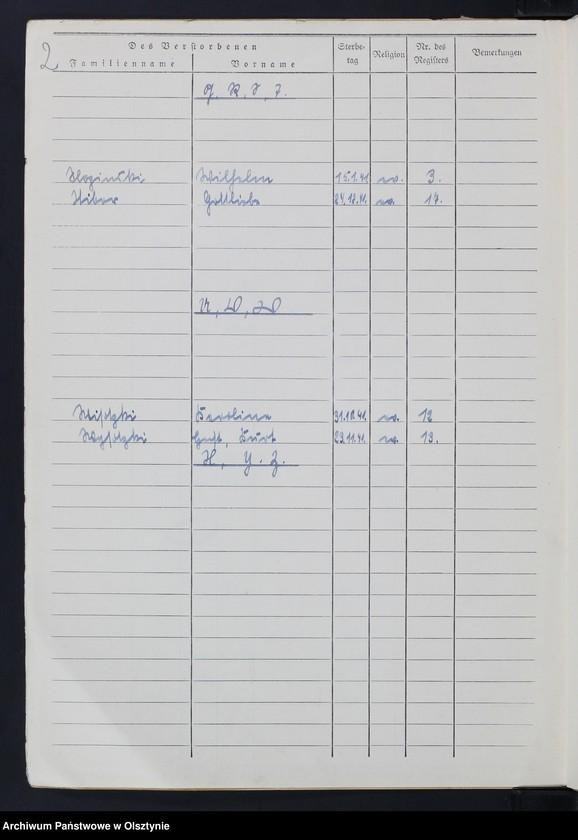 """Obraz z jednostki """"Sterbebuch/Zweitbuch/Nr 1 - 18"""""""