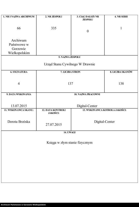 "Obraz 1 z jednostki ""Geburts Register"""
