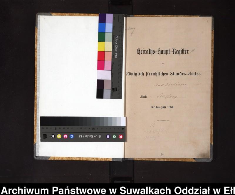"""image.from.unit """"Heiraths-Haupt-Register des Königlich Preussischen Standes-Amtes Stadt Nicolaiken Kreis Sensburg"""""""
