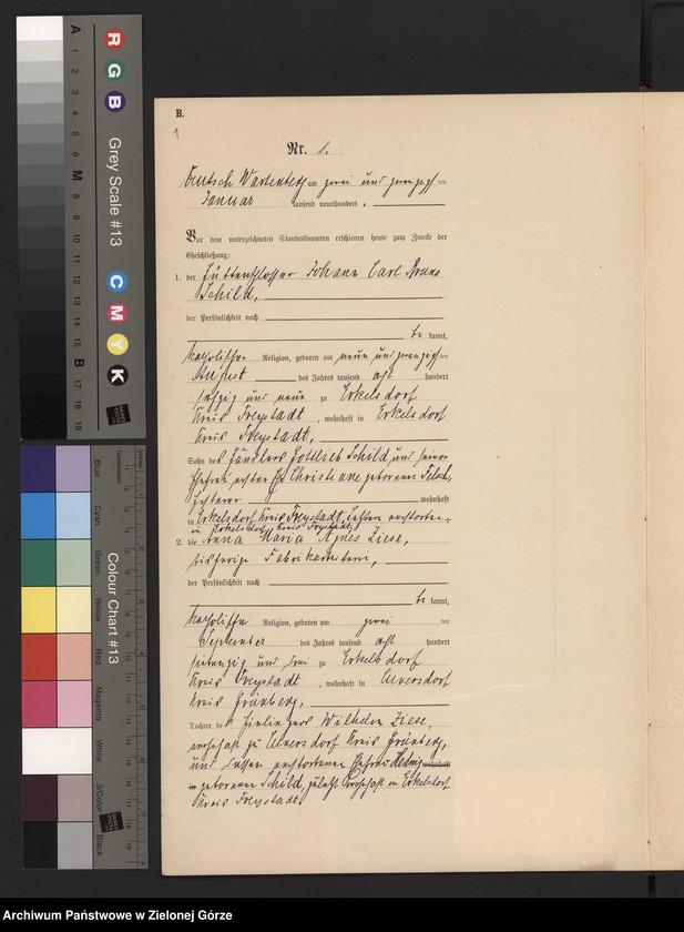 """image.from.unit """"Heirats-Haupt-Register Standes-Amt Deutsch Wartenberg 1900"""""""