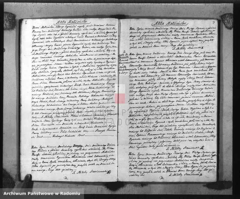 """Obraz z jednostki """"Akta Stanu Cywilnego Parafii Zakrzów Małżeństw, Urodzeń i Zejścia na Rok 1823"""""""