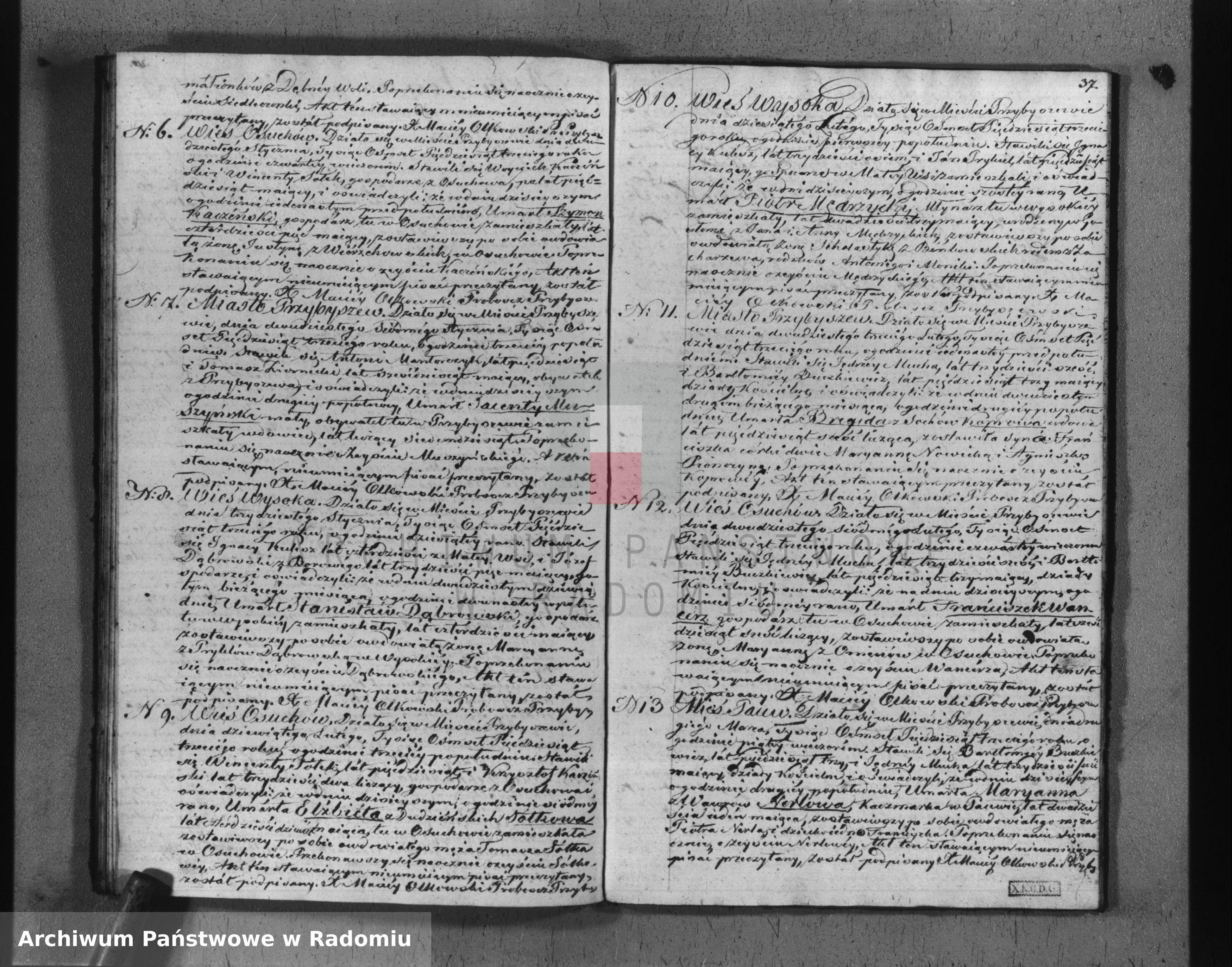 Skan z jednostki: Duplikat na akta urodzeń, małżeństw i zeyścia w roku 1853 w parafii Przybyszewskiej