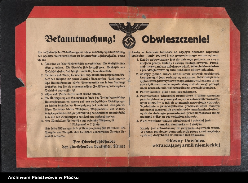 """Obraz 1 z kolekcji """"Niemieckie afisze 1939-1940"""""""