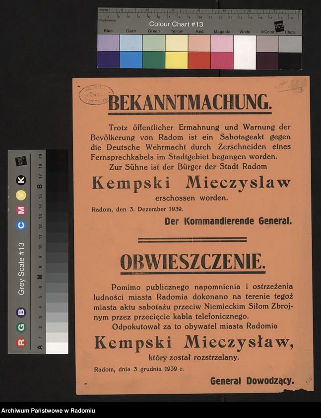 """Obraz 5 z kolekcji """"Represje niemieckie w Dystrykcie Radomskim."""""""