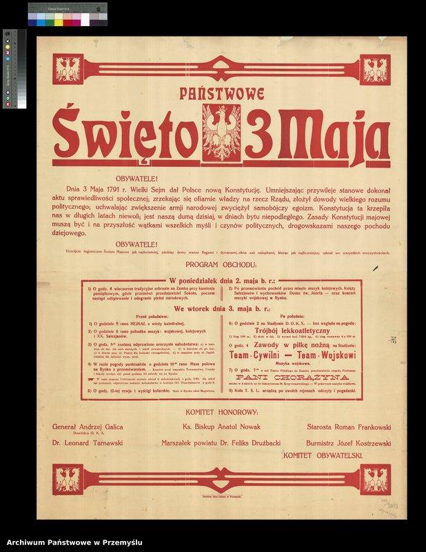 """Obraz 3 z kolekcji """"Uchwalenie Konstytucji 3 Maja - obchody rocznicowe w Przemyślu"""""""