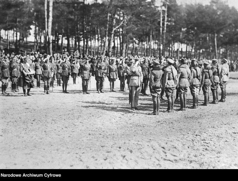 """Obraz 1 z jednostki """"Józef Piłsudski podczas przeglądu wojska"""""""