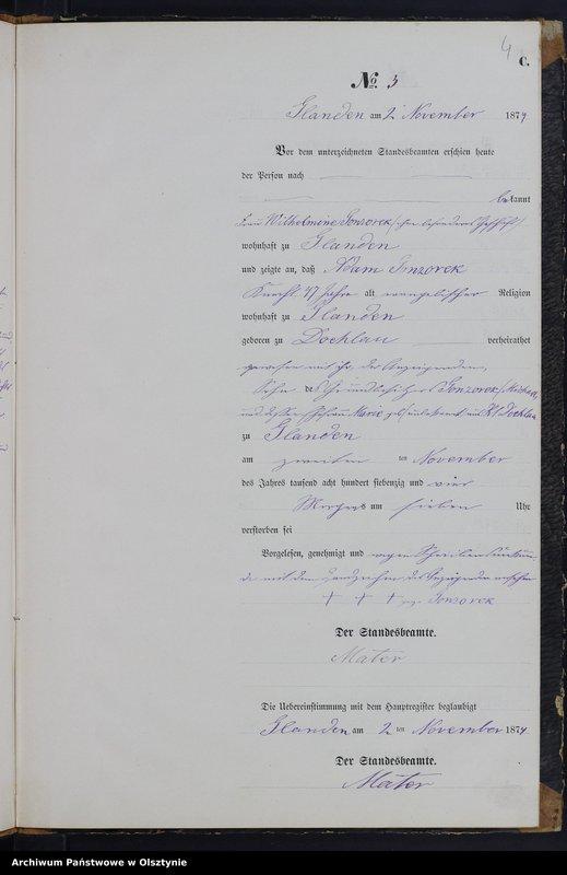 """image.from.team """"Urząd Stanu Cywilnego w Glądach pow. ostródzki"""""""