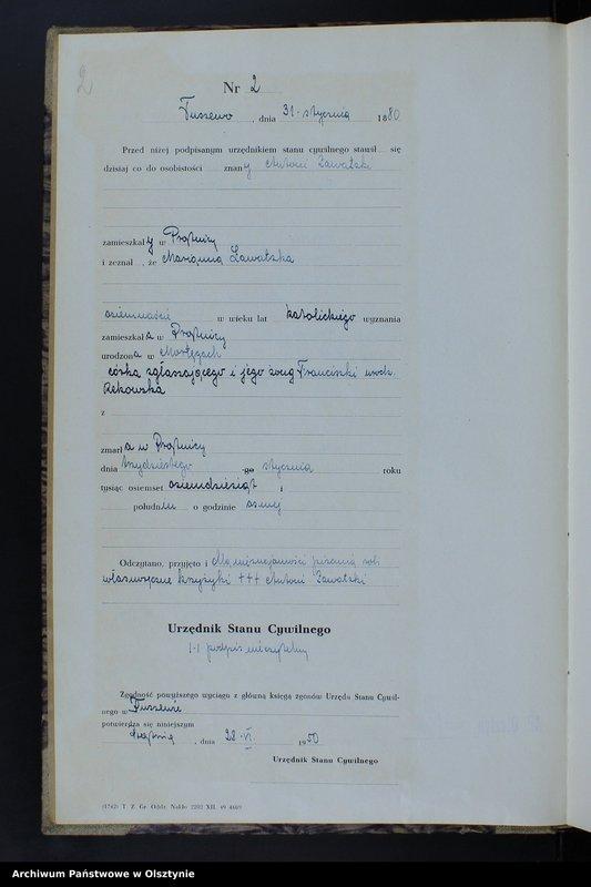"""image.from.unit """"Księga zgonów Nr 1 - 42,1 - 30,1 - 38,1 - 35,1 - 22,1 - 46,1 - 38,1 - 28, 1 - 23,1 - 36 i 1 - 17 /przepisana w języku polskim z oryginału niemiec- kiego w dniach 28.06.-13.07.1950/"""""""