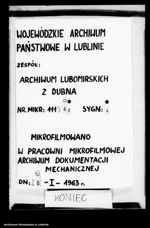 """image.from.unit """"Pieczęć Lubomirskich z r. 1854 z księgi magistratu dubieńskiego"""""""