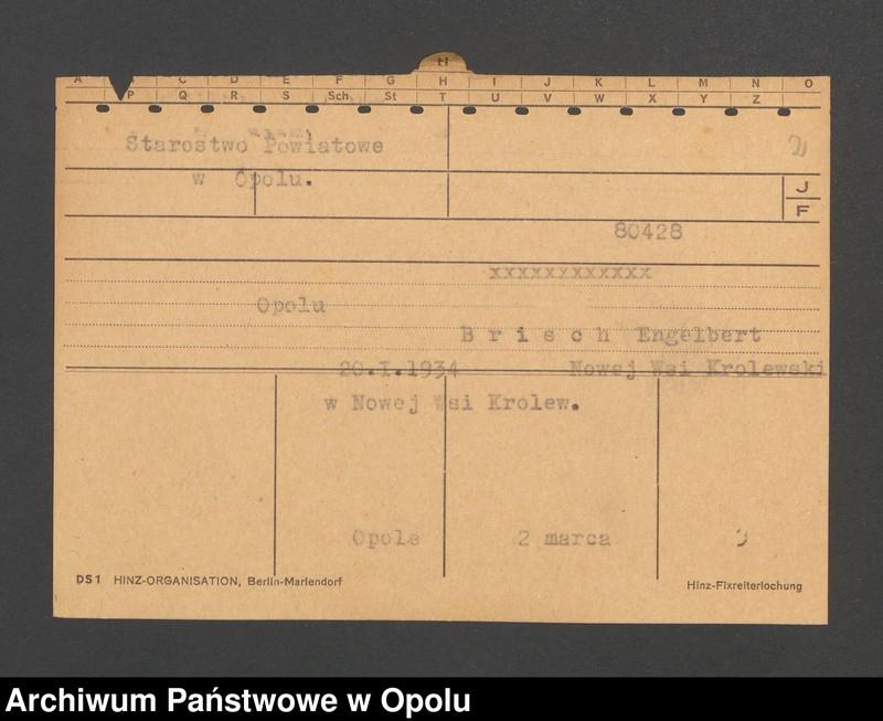 """Obraz 4 z jednostki """"[Nieslony Theodor, ur. 9.11.1883, zam. Kirchwalde]"""""""