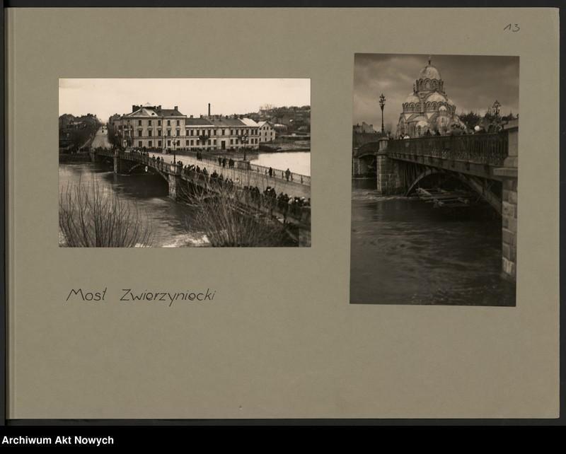 """Obraz 16 z jednostki """"Powódź na Wileńszczyźnie w 1931 r. Album z fotografiami."""""""
