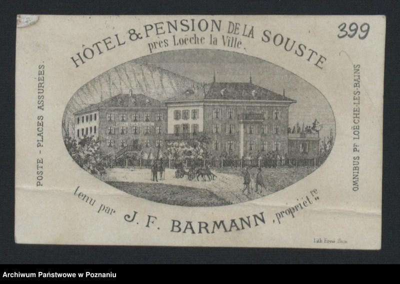 """Obraz 4 z kolekcji """"Egzotyczny papier listowny i rachunki z elitarnych hoteli - podróże rodziny Radolińskich"""""""