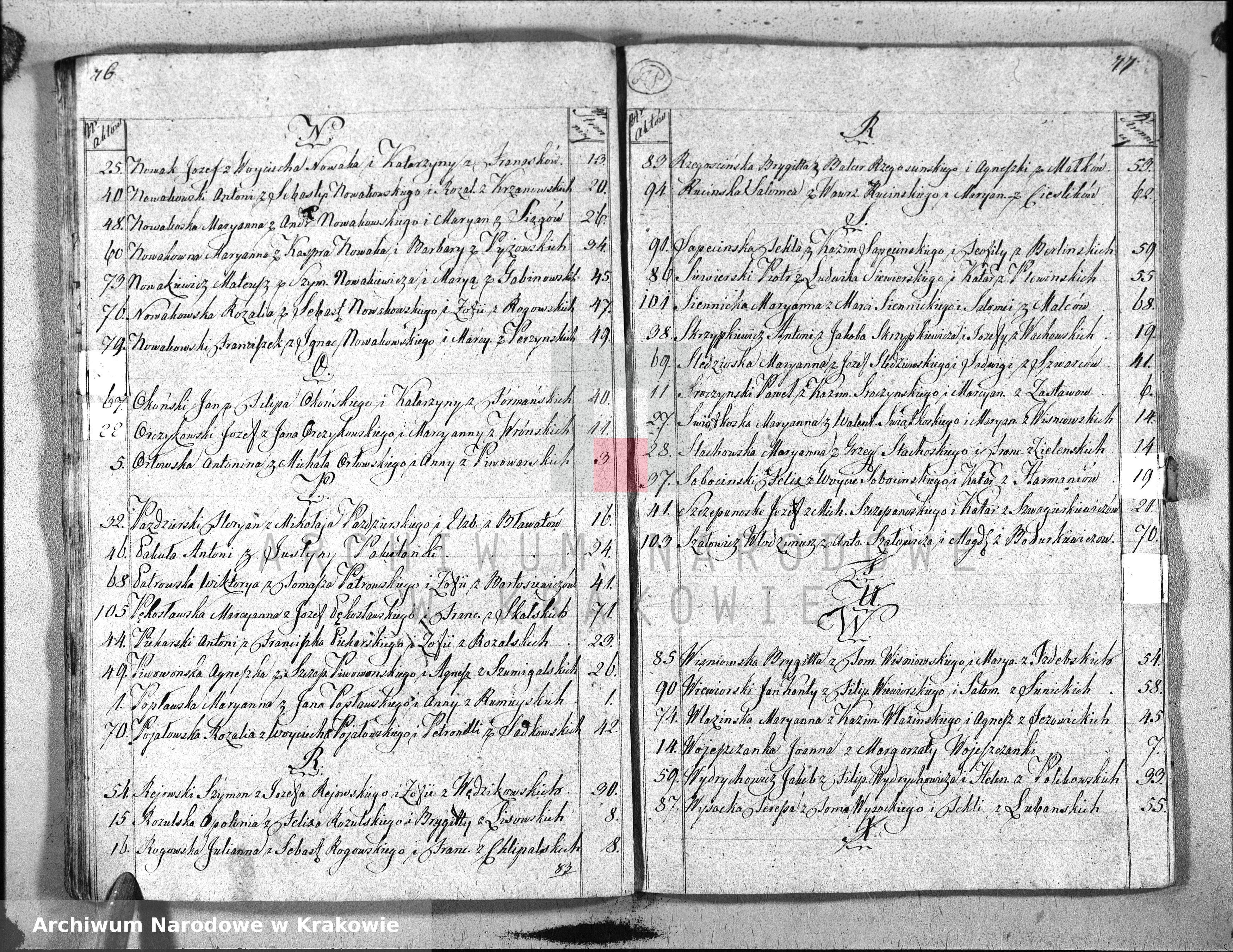 Skan z jednostki: Księga do zapisywania Aktow Stanu Cywilnego Urodzin, Uznania i Przysposobienia dla Parafij S. Floryana na Kleparzu przy Krakowie. od dnia 1go Stycznia 1812 Ru zaczynaiąca się