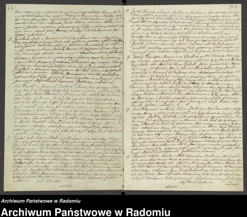 """Obraz z jednostki """"Akta urodzenia, małżeństw i zeyścia parafii Lissowskiej roku 1826"""""""