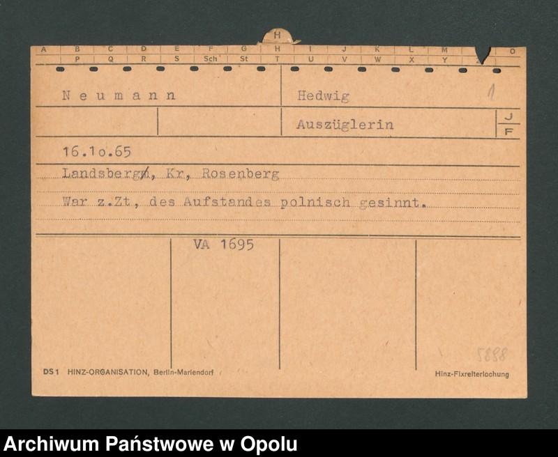 "Obraz 3 z jednostki ""[Neumann Hedwig, ur. 16.10.1865, zam. Landsberg]"""