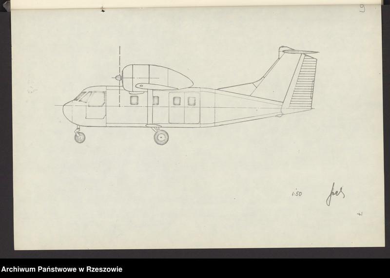 """Obraz 12 z jednostki """"Ogólny projekt ,wstępny """"JAMEL"""" - lekki samolot wielozadaniowy ."""""""