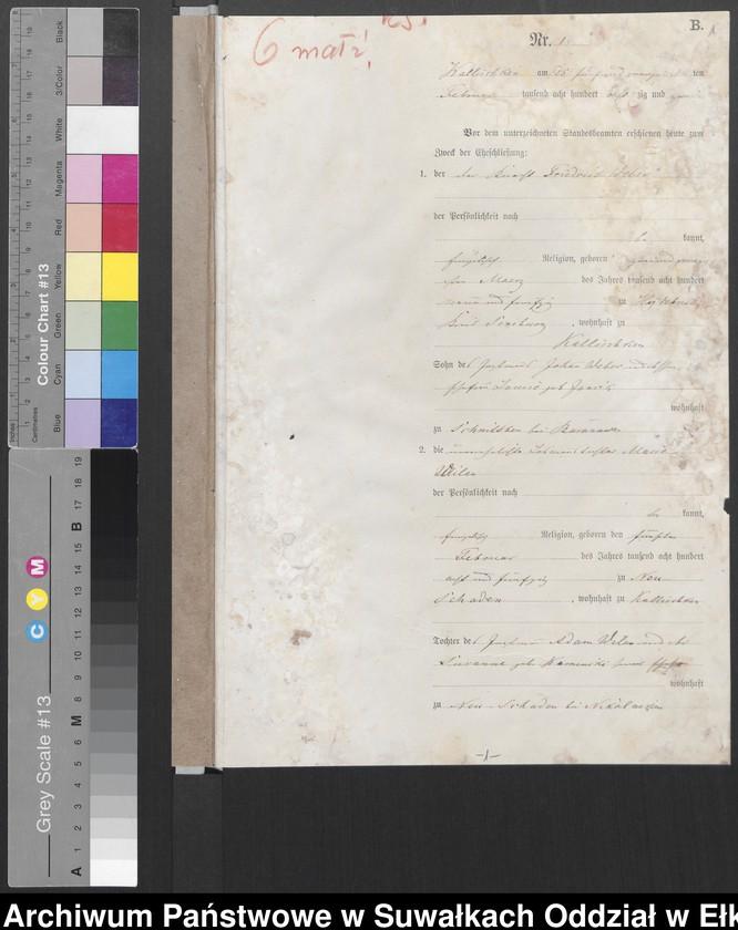 """image.from.unit """"[Heiraths-Haupt-Register des Königlich Preussischen Standes-Amtes Kallischken Kreis Johannisburg]"""""""