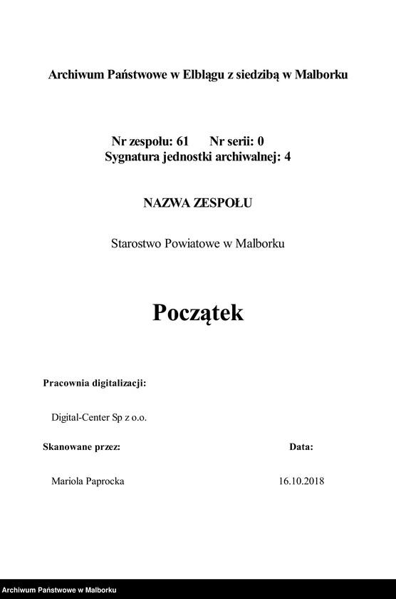 """Obraz 3 z jednostki """"Acta betrdie jährlich einzusendende Nachweisung von den mennonitischen Familien, deren Besitzung"""""""