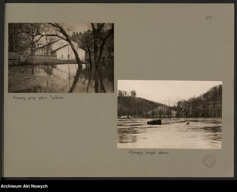 """Obraz 13 z jednostki """"Powódź na Wileńszczyźnie w 1931 r. Album z fotografiami."""""""