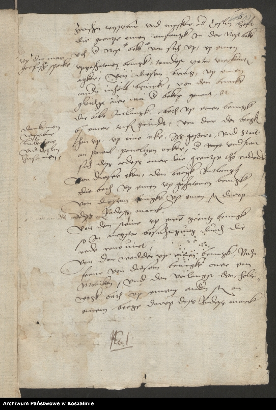 """Obraz 13 z kolekcji """"Granice miasta Koszalina. Tom I: 1558-1689 [odpis dokumentu z 1337 roku]"""""""