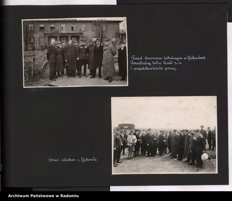 """Obraz 11 z jednostki """"[Album fotograficzny dokumentujący reaktywowanie krajowych połączeń lotniczych przez Polskie Linie Lotnicze """"Lot""""]"""""""
