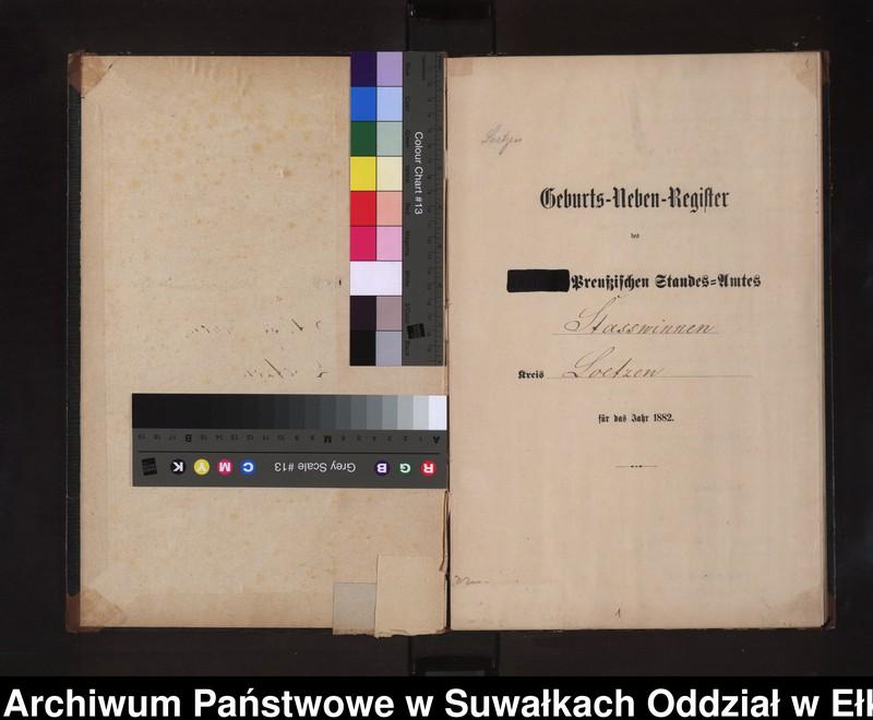 """image.from.unit """"Geburts-Neben-Register des Preussischen Standes-Amtes Stasswinnen Kreis Loetzen"""""""