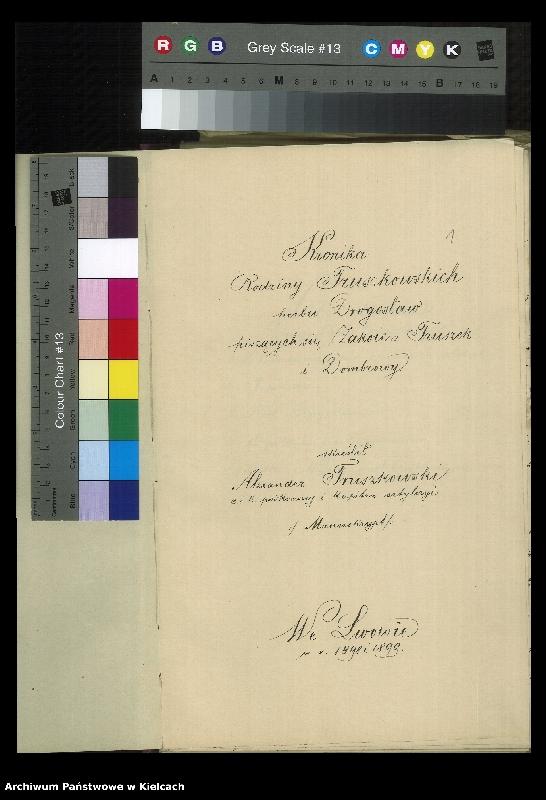 """Obraz 2 z kolekcji """"Kronika rodzinna Truszkowskich i Czajkowskich, 1899-1899"""""""