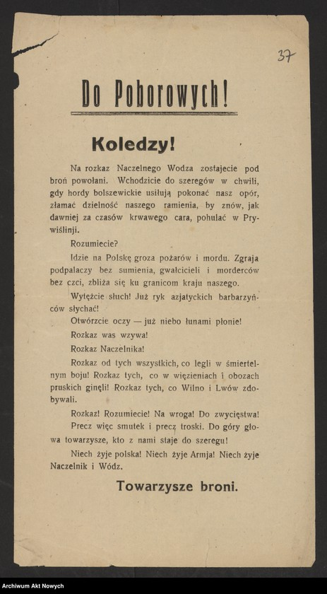 """Obraz 3 z kolekcji """"Wojna polsko-bolszewicka w dokumencie i fotografii"""""""