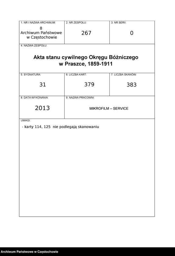 "image.from.unit.number ""Kniga dlâ zapiski aktov¨ graždanskogo ispovĕdaniâ Prašskago okruga načatâ s¨ 1875 godu od¨ umerših¨"""
