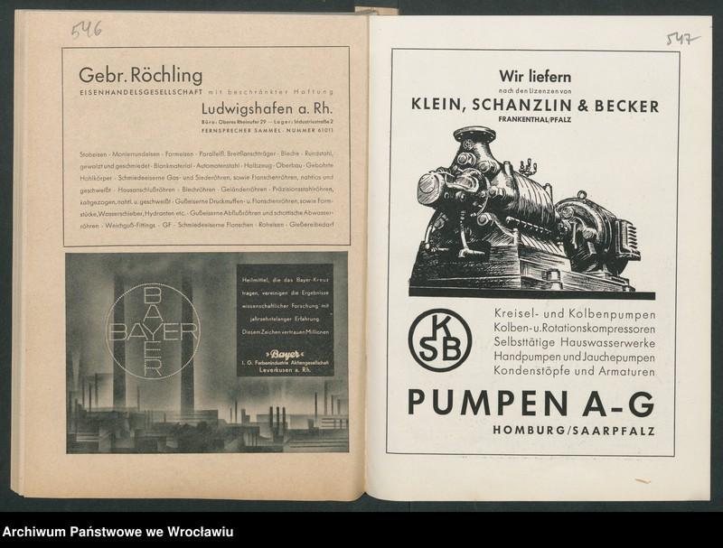 """Obraz 15 z kolekcji """"Reklamy znanych marek w roczniku """"Unsere Saar"""" z 1935 roku"""""""