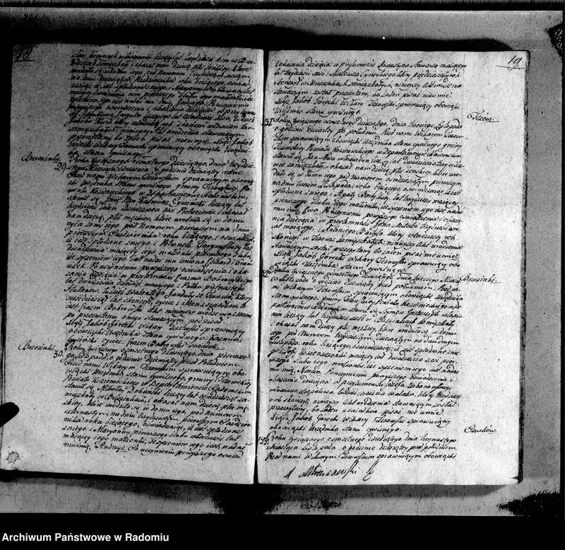 """Obraz 12 z jednostki """"Księga urzędnika stanu cywilnego parafii Tczów do wpisania wszelkich aktów na lata 1810 i 1811"""""""