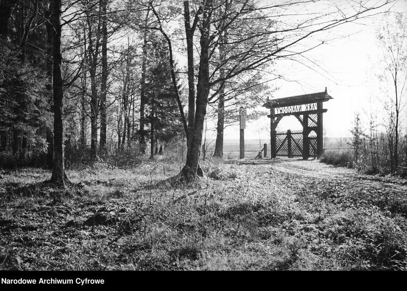 Obiekt Park narodowy. Fragment bramy do parku. z jednostki Białowieża