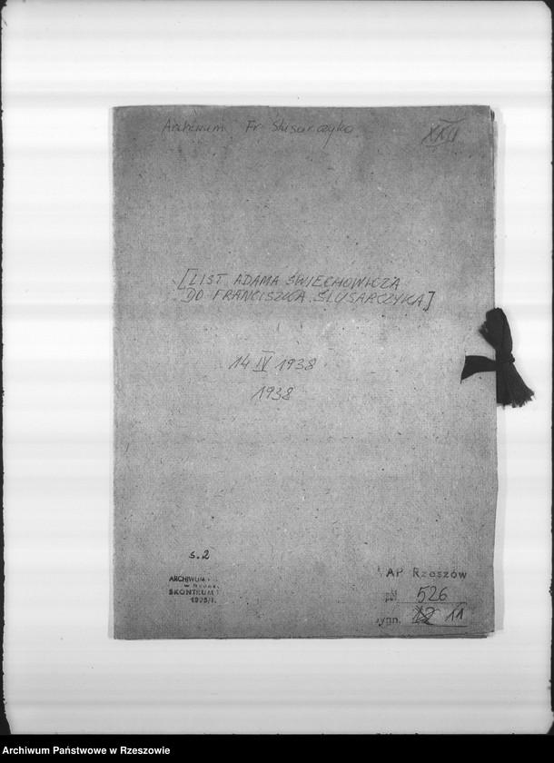 """image.from.unit """"List Adama Świechowicza do Franciszka Ślusarczyka."""""""