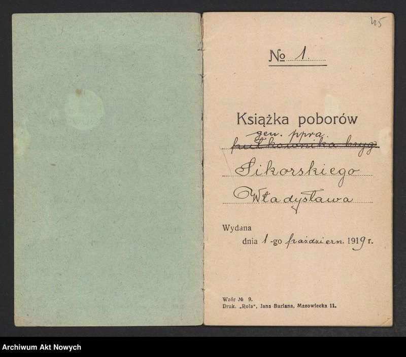 """Obraz 2 z kolekcji """"Władysław Sikorski - biografia w dokumencie archiwalnym"""""""