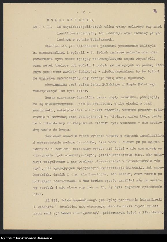 """Obraz 16 z kolekcji """"Niepodległa Polska 1918-1920 w zbiorach AP Rzeszów"""""""