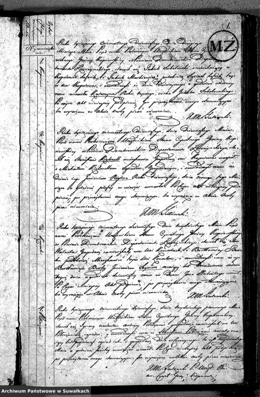 """image.from.unit """"Akta Zeszłych Gminy Kopciowskiey od 1 Maia 1809 R."""""""
