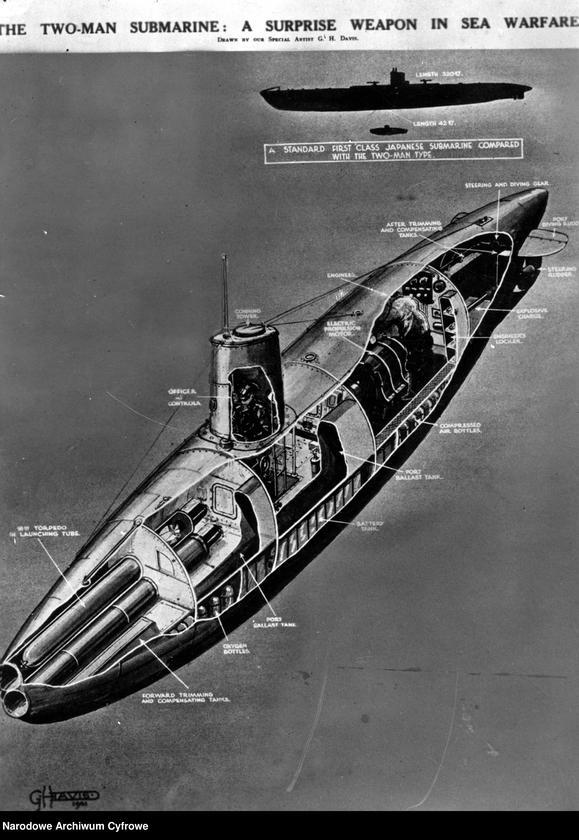 """Obraz z jednostki """"Rysunek dwuosobowej łodzi podwodnej"""""""