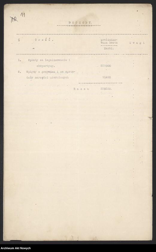 """Obraz 13 z jednostki """"[Budżet Służby Legalizacji Narzędzi Mierniczych na drugie półrocze 1919 r. i okres do 31 III 1920 r. Wyjaśnienia, zestawienia, załączniki.]"""""""