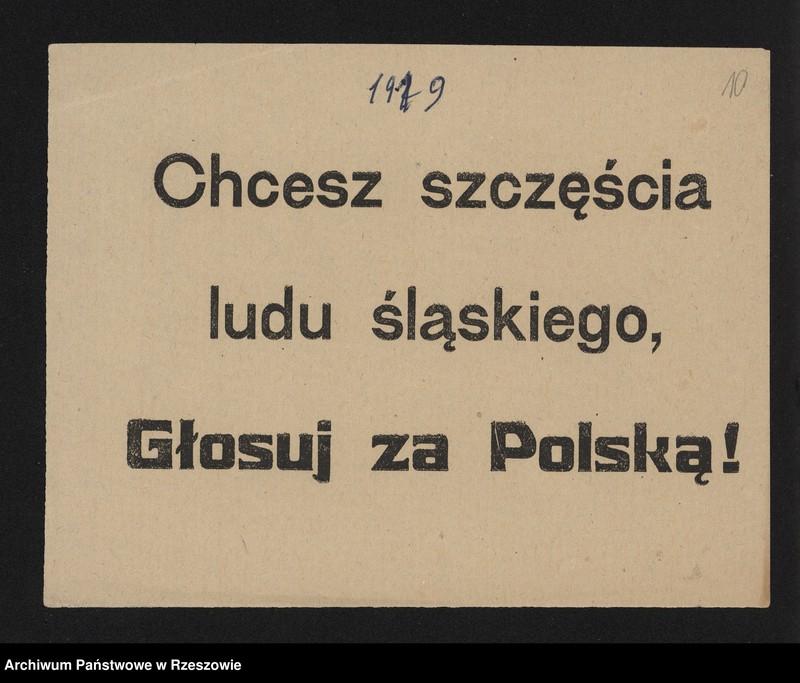 """Obraz 9 z kolekcji """"Powstania Śląskie w zbiorach AP Rzeszów"""""""